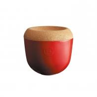 Pojemnik na czosnek 13 cm czerwony - Emile Henry