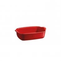 Prostokątne naczynie do zapiekania 22 × 14,5 cm czerwone - Emile Henry