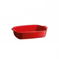 Prostokątne naczynie do zapiekania 30 × 19 cm czerwony - Emile Henry