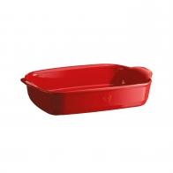 Prostokątne naczynie do zapiekania 36,5 × 23,5 cm czerwone - Emile Henry