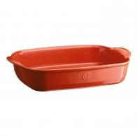 Prostokątne naczynie do zapiekania 42,5 × 28 cm czerwone - Emile Henry