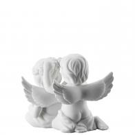 Figurka Para Aniołów z wiankiem, średnia 10 cm