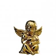 Figurka - Anioł z kotem złoty - średni 10 cm Rosenthal 69055-426157-90517