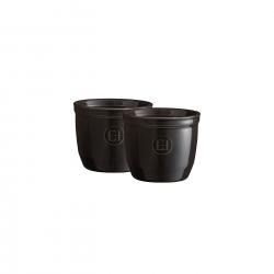 Zestaw dwóch miseczek do zapiekania typu ramekin - N°8 7 cm czarne - Emile Henry