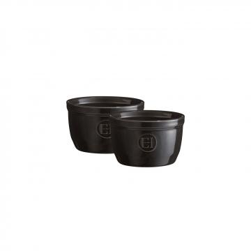 Zestaw dwóch miseczek do zapiekania typu ramekin - N°9 czarne - Emile Henry