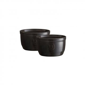 Zestaw dwóch miseczek do zapiekania typu ramekin - N°10 czarne - Emile Henry
