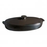 Naczynie do gotowania ryb na parze 42 × 25 cm czarne - Emile Henry