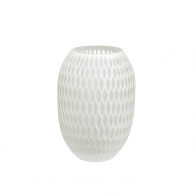 Wazon Carved biały 24 cm 23121051