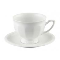 Filiżanka do kawy ze spodkiem - Biała Maria [10430-800001-14742]
