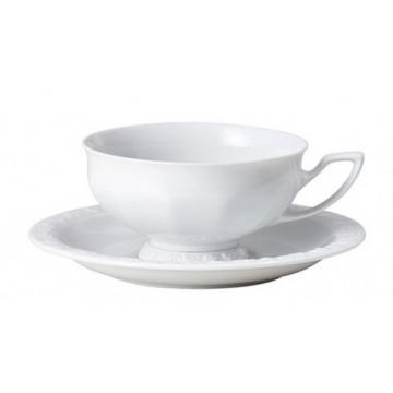 Filiżanka do herbaty ze spodkiem - Biała Maria [10430-800001-14642]