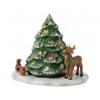 Świecznik Choinka i leśne zwierzęta, 23 cm - Christmas Toys