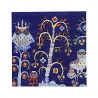 Serwetki papierowe 24cm Taika, niebieskie