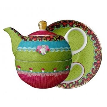 Czajnik z filiżanką Sweet Cat - Tea for one - Eva Maria Nitsche