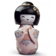 Figurka Kokeshi Różowa lladro 01008708