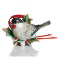 Figurka / ozdoba choinkowa - Sikorka Holiday Greetings