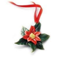 Figurka / ozdoba choinkowa - Poinsecja Holiday Greetings
