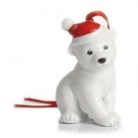 Figurka / ozdoba choinkowa - Miś polarny Holiday Greetings