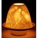 Lampion porcelanowy PAPUGI