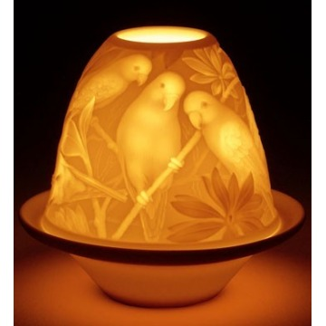 Lampion porcelanowy PAPUGI Lladro sklep internetowy 01017305