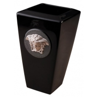 Wazon 24cm - Versace Medusa Black