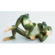 Figurka żabi tata i syn - Amphibia Frog