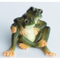 Figurka żabia mama i córka - Amphibia Frog