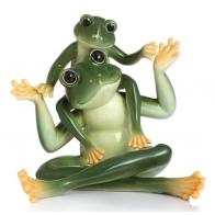 Figurka żabi tata i syn 2 - Amphibia Frog