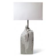 Lampa z rzeźbą - Medytująca kobieta I