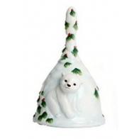 Dzwonek porcelanowy - Miś Polarny