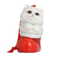 Figurka / ozdoba choinkowa - Kotek Holiday Greetings
