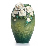Wazon 40cm - Van Gogh Białe Róże Franz Collecton