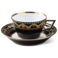 Filiżanka do kawy ze spodkiem - Kurland Royal Noir