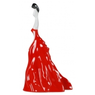 Markiza - czerwona as cmielów figurka z porcelany
