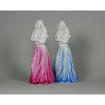 Figurka Matka z dzieckiem - niebieska