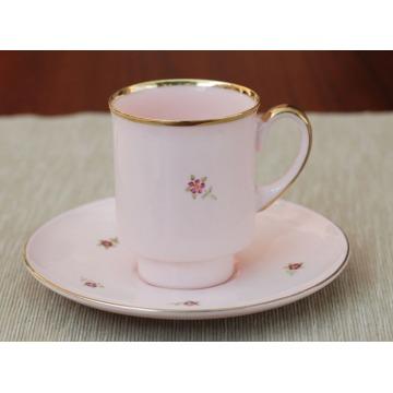 Filiżanka London - różowa porcelana