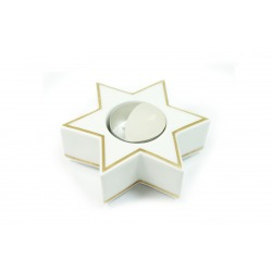 Świecznik gwiazdka- tealight - Gold Ring