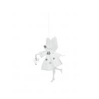 Biała wróżka z sercem 13cm - zawieszka