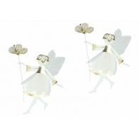 Wróżki z kwiatami w złocie 9cm - zawieszki