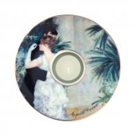 Świecznik 15cm - Taniec w mieście - August Renoir