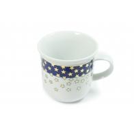 Kubek porcelanowy Złote Gwiazdki