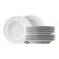 Zestaw obiadowy dla 6 osób Biała Maria - 16 elementów