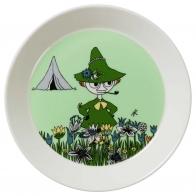 Talerzyk 19cm Muminki - Włóczykij w zieleni edycja 2015, moomin Snufkin Green 6411801001037