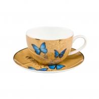 Filiżanka do herbaty 0,25l - Niebieskie Motyle Joanna Charlotte Goebel 26-150-19-1