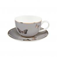 Filiżanka do herbaty 0,25l - Szare Motyle Joanna Charlotte 26-150-20-1 Goebel