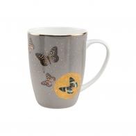 Kubek 0,4l - Szare Motyle Joanna Charlotte Goebel 26150281