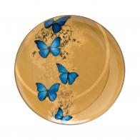 Talerz 22,5cm- Niebieskie Motyle Joanna Charlotte Goebel 26150231