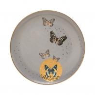 Talerz 22,5cm- Szare Motyle Joanna Charlotte Goebel 26150241