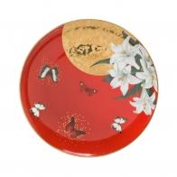 Talerz 22,5cm- Czerwone Lilie Joanna Charlotte Goebel 26150251