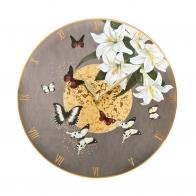Zegar szklany 30cm - Szare Motyle Joanna Charlotte, Goebel sklep 26150031