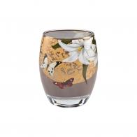 Świecznik szklany 10cm - Szare Motyle Joanna Charlotte, Goebel sklep 26150141